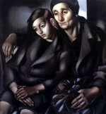 The Refugees - Tamara de Lempicka Oil Painting