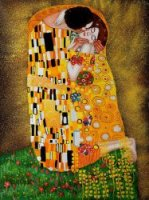 The Kiss (Full View) II - Oil Painting Reproduction On Canvas Gustav Klimt Oil Painting