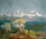 View of the Bay at Antibes and Maritime Alps - Oil Painting Reproduction On Canvas