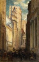 Wall Street - Colin Campbell Cooper Oil painting