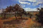 Apple Trees at l'Hermitage II - Paul Gauguin Oil Painting