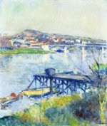 The Bridge at Argenteuil - Gustave Caillebotte Oil Painting