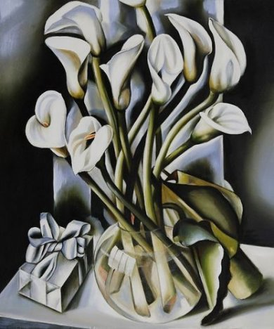 Arums - Tamara de Lempicka Oil Painting
