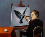 La Clairvoyance - Rene Magritte Oil Painting