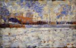 Snow Effect: Winter in the Suburbs - Georges Seurat Oil Painting