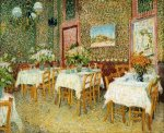 Interior of a Restaurant - Vincent Van Gogh Oil Painting