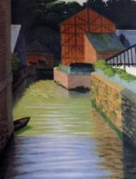 Part of the Town of Pont-Audemer - Oil Painting Reproduction On Canvas