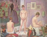 Les poseuses - Georges Seurat Oil Painting
