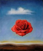 The Meditative Rose - Salvador Dali Oil Painting