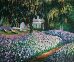 Artist's Garden at Giverny - Claude Monet Oil Painting