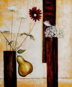 Infused Geometry (Daisy) - Oil Painting Reproduction On Canvas