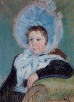 Dorothy in a Very Large Bonnet and a Dark Coat - Mary Cassatt Oil Painting