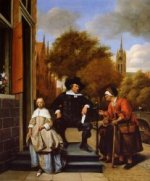 The Burgher of Delft and His Daughter - Jan Steen oil painting