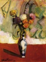Chrysanthemums in a Chinese Vase - Henri Matisse Oil Painting