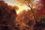 Autumn in North America - Frederic Edwin Church Oil Painting