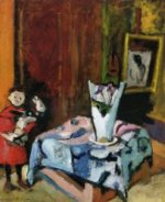 Pierre with Wooden Horse - Henri Matisse Oil Painting