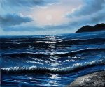 Dark Waters III - Oil Painting Reproduction On Canvas
