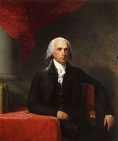 James Madison II - Gilbert Stuart Oil Painting