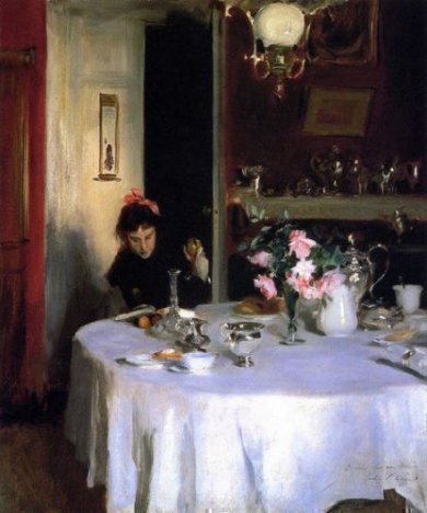 The Breakfast Table - John Singer Sargent Oil Painting