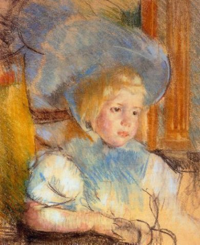 Simone in Plumed Hat - Mary Cassatt Oil Painting