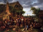 A Village Revel - Jan Steen oil painting