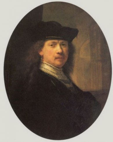 Self Portrait 9 - Rembrandt van Rijn Oil Painting