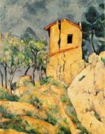 The House with Cracked Walls - Paul Cezanne Oil Painting