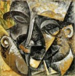 Dynamism of a man's head - Oil Painting Reproduction On Canvas