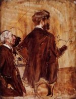 In the Studio - Giovanni Boldini Oil Painting
