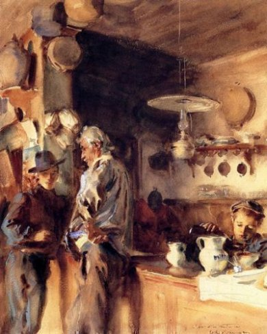 A Spanish Interior - John Singer Sargent Oil Painting