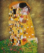 The Kiss (Fullview) - Oil Painting Reproduction On Canvas Gustav Klimt Oil Painting