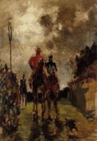 Jockeys - Toulouse-Lautrec Oil Painting