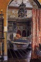 The Drawing Room at Townshend House - Sir Lawrence Alma-Tadema Oil Painting