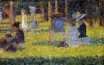 Woman Seated and Baby Carriage - Georges Seurat Oil Painting