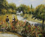 The Rose Garden at Wargemont, 1879 - Pierre Auguste Renoir Oil Painting