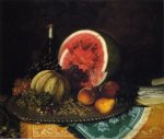 Still Life with Watermelon - William Mason Brown Oil Painting