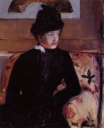 Portrait of Madame J - Mary Cassatt Oil Painting