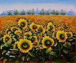 Wild Sunflowers - Oil Painting Reproduction On Canvas