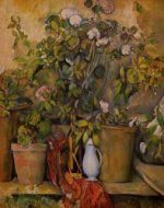Potted Plants - Paul Cezanne Oil Painting