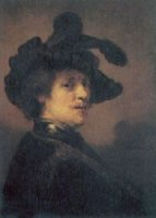 Self Portrait 6 - Rembrandt van Rijn Oil Painting