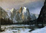 Cathedral Rocks, Yosemite Valley, California - Albert Bierstadt Oil Painting