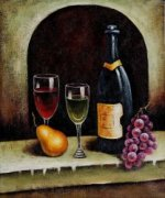 Wine Affair - Oil Painting Reproduction On Canvas