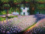 Artist's Garden at Giverny III - Claude Monet Oil Painting