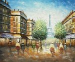 Dawn Near The Eiffel - Oil Painting Reproduction On Canvas