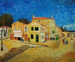 Vincent's House in Arles (The Yellow House) - Vincent Van Gogh Oil Painting