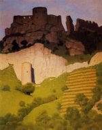 Chateau Gaillard at Andelys - Felix Vallotton Oil Painting