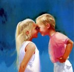 Nose To Nose - Donald Zolan Oil Painting