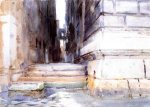 Base of a Palace - John Singer Sargent Oil Painting