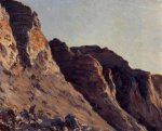 Cliff at Villers-sur-Mer - Gustave Caillebotte Oil Painting