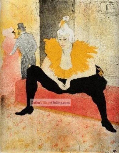 Cha-U-Kao, Chinese Clown, Seated by Henri De Toulouse-Lautrec